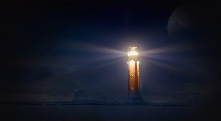 faro júpiter retrógrado en escorpio luz en medio de la noche