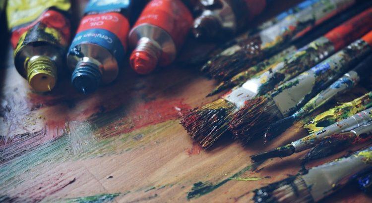 óleos pinceles color pintando
